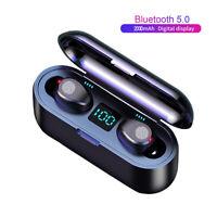 2020 Newest F9 TWS Wireless Bluetooth Earbuds 5.0 LED Light Digital Display Touc