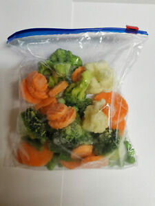 ZIP LOCK FOOD STORAGE FREEZER BAGS RESEALABLE REUSABLE SIZES SMALL LARGE