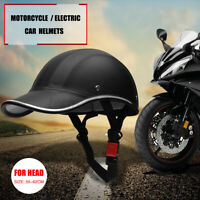 Motorcycle Bike Scooter Baseball Cap Style Half Open Face Safety Hard Helmet Hat