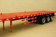 1:24 China CIMC Container trailer flatbed diecast model trailer truck alloy red