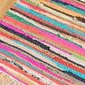 Fair Trade Chindi Rag Rug 12 Sizes Recycled Handloom Cotton Braided Runner Mat