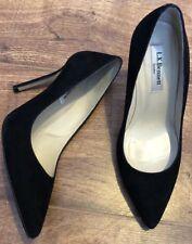 Women's Lk Bennett Stiletto Heels Black Suede Size 37/4.great Condition