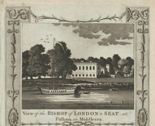 More details for the bishop of london's seat, fulham palace. thornton 1784 old antique print