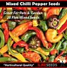 Mixed Chilli Seeds 20 Minimum. Rare, Heirloom, Mixed Colours, Sweet, Super Hots