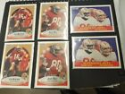 1990 Fleer Football Cards - Greatest 49ers - 6 cards, Montana and Rice NM - Mint