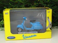 Welly 1/18 Diecast Motorcycle Piaggio Vespa 1970 Vespa 150 Blue Scooter