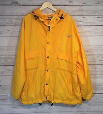 Vintage Polo Sport Ralph Lauren Windbreaker Nylon Jacket Men XLarge Yellow 90 XL
