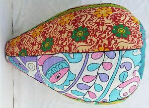 Handmade stool Embroidered Cotton kantha Bohemian Bean Bag Kids Furniture BD97