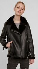 Vera Moda black leather look biker jacket