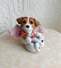 Valentine's Day Cupid Jack Russell Terrier sculpted Furever Clay Collectible
