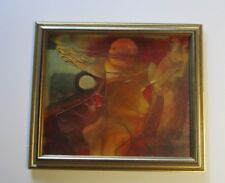 CARLOS MENDEZ PAINTING ABSTRACT EXPRESSIONIST ARGENTINA MODERNISM FIGURE VINTAGE