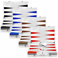 Rolling 66 18-Inch Clear Lucite Deluxe Backgammon Set Available In 4 Colors NEW