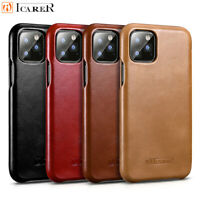 ICARER 100% Genuine Real Leather Wallet Flip Cover Case For iPhone 11 Pro XS MAX