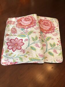 RIDGEFIELD HOME Paisley/Floral Standar Pillow Shams Set Of 2