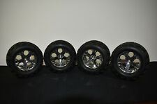 Traxxas Stampede 2wd Front Rear Talon Tires 2.8 Chrome Wheels Rustler Used