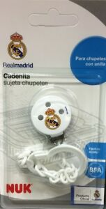 REAL MADRID NUK PACIFIER CLIP SOOTHER CHAIN