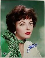 JOAN COLLINS Signed 11x14 Photo Actress AUTO #1 w/ BAS Beckett COA Autograph