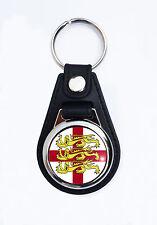 ST GEORGES CROSS 3 LIONS FAUX LEATHER KEY RING.VESPA/LAMBRETTA KEY RING.NO18