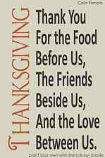 STENCIL Thanksgiving Blessings Thank You Food Friends Love Between Us Primitive
