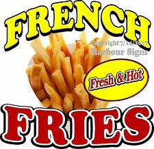Fresh & Hot French Fries Decal (Choose Your Size) Food Truck Concession Sticker