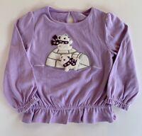 Gymboree Fair Isle Sparkle purple polar bear top Sz 3t long sleeve Pocket Pal