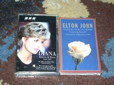 PRINCESS DIANA 2 Cassette Lot BBC Funeral Recording CANDLE IN THE WIND Elton VG