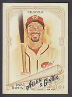 Topps - Allen & Ginter 2018 - Base SP # 324 A Rendon - Washington Nationals