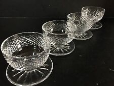 "*VINTAGE* Waterford Crystal ALANA (1952-) 4 Footed Dessert Bowl 3 7/8"" IRELAND"