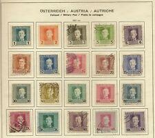 AUSTRIA  MILITARY POST 1917 CHARLES I SET OF (20) TO 10K