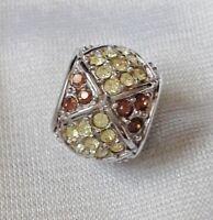 Abalorio/charm/bead  ROMBOS plata 925  CZs pavé  (european bracelet)