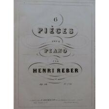 REBER Henri Pièces pour Piano ca1845 partition sheet music score
