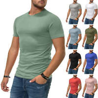 Jack & Jones Herren T-Shirt Kurzarmshirt Shirt Basic O-Neck Sommer Herrenshirt