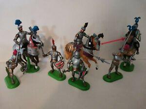 Lot soldats Britain's chevaliers moyen âge figurines 1/32