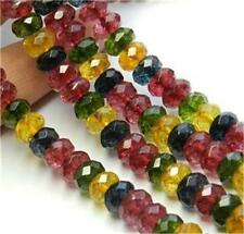 5x8mm faceted Multicolor Tourmaline Faceted Gems Loose Beads 15''