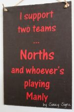 Norths North Sydney Bears versus Manly Sign Jersey Cards Rugby League Etc