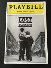 Lost In Yonkers Playbill Lucie Arnaz Isa Thomas 1992 Richard Rogers Theatre