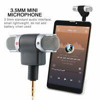 Mini 3.5mm Stereo Microphone Mic Audio Recorder For iPhone Andriod Phone Karaoke