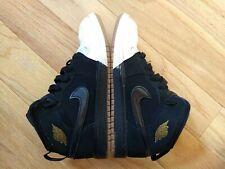 Nike Air Jordan sz 1.5Y Retro I 1 Dipped Toe Black Gold White 2018 PS 640737-021