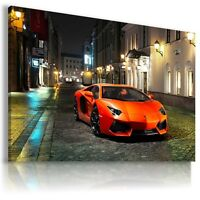 LAMBORGHINI AVENTADOR RED Sports Car  Wall Art Canvas Picture AU467 MATAGA