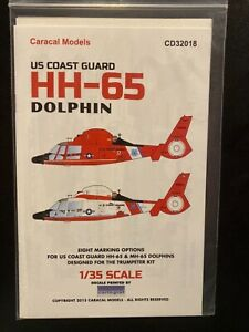 Caracal Models CD32018 US Coast Guard HH-65 Dolphin  1/35th Scale