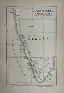 Indien - India - Handelsstädte - Vorderindien - Original 1881 - Portugiesen
