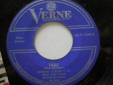 JOHNNY ALBINO Y SU TRIO SAN JUAN Tabu USA 45 VERNE 1960s