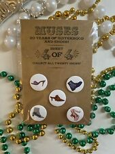 👠Krewe of Muses👠 Mardi Gras New Orleans Shoe Pins Sheet💜💛💚New!