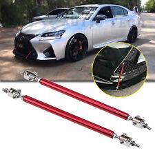 JDM Red Adjust Front Bumper Lip Splitter Strut Rod Tie Support Bars for Lexus