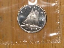 Canada 1964 silver 10 Cents coin PL Proof Like nice