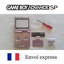 Coque GAME BOY ADVANCE SP Rose pink NEUF NEW + tournevis - shell case GBA