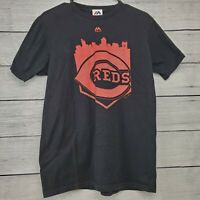 Majestic Cincinnati Reds Men's Black Short Sleeve MLB T-Shirt Size Medium EUC