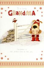 Boofle Lovely Grandma Christmas Greeting Card Cute Range Greetings Cards