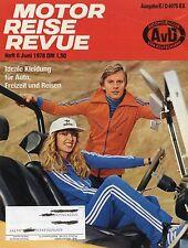 Motor Reise Revue 6 1978 BMW 525 Opel Senator Monza Mitsubishi Sapporo CX 2200 D