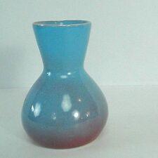 "4.5"" ceramic vase blue/purple ombre glaze hour glass shape"